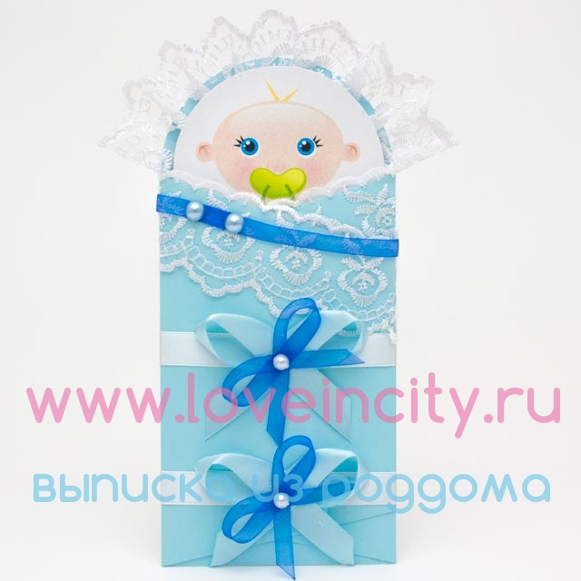 Конверт открытка для новорожденных 19